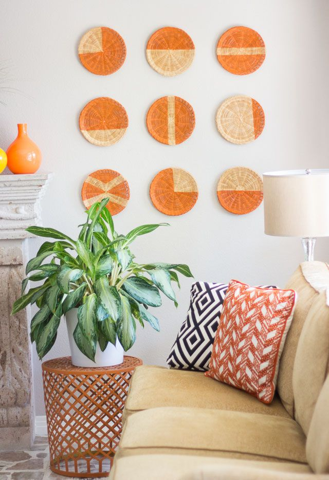 Turn thrifted baskets into cool DIY wall art (these are old school ...
