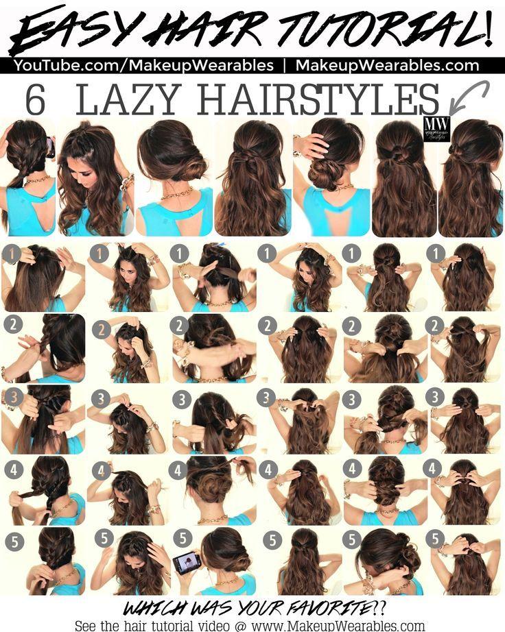 Hair Styles Ideas 40 Cute And Easy Hairstyle Tutorials