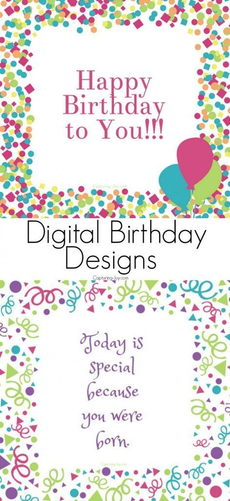 Best Ideas For Diy Crafts These Digital Birthday Card Designs Are