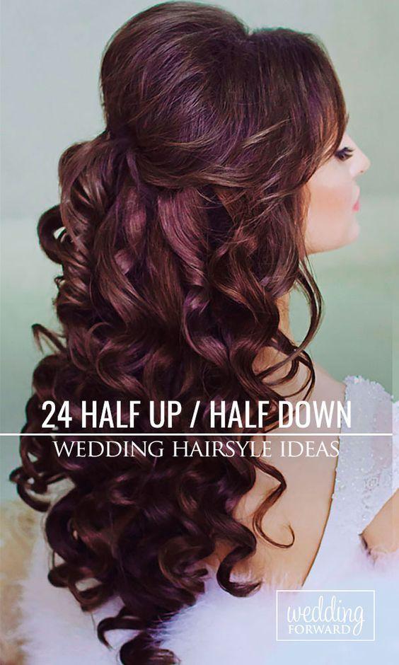 Hair Styles Ideas 24 Stunning Half Up Half Down Wedding Hairstyles