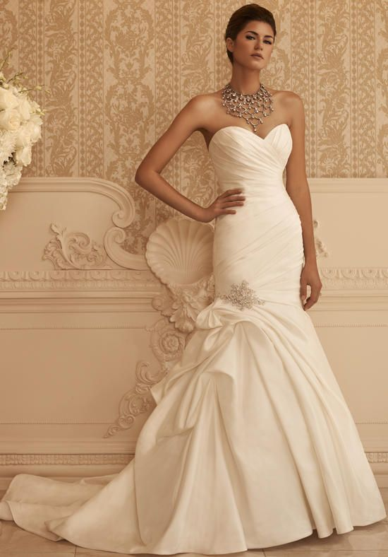 Wedding Dresses Satin Mermaid Gown With Asymmetrical Ruched