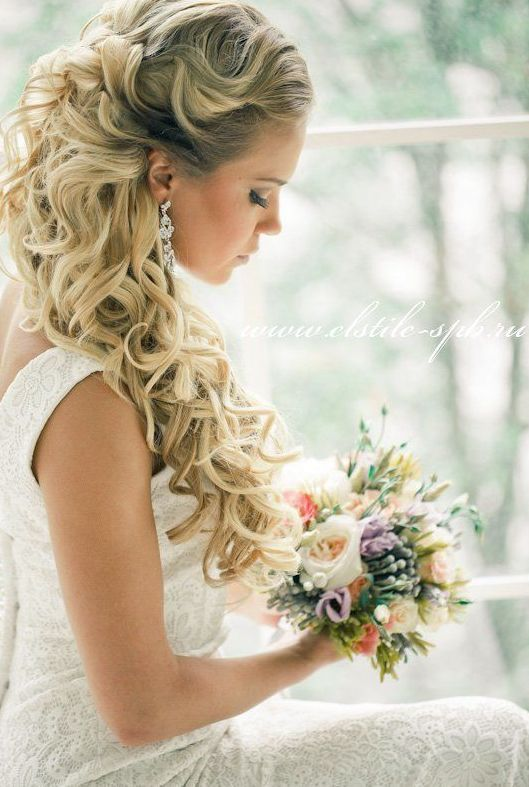 Wedding Hairstyles Sophisticated Half Up Half Down Long