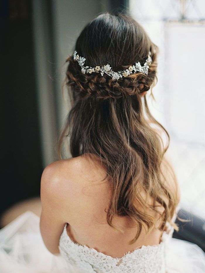 Wedding Hairstyles Half Up Half Down Wedding Hairstyle With Pretty
