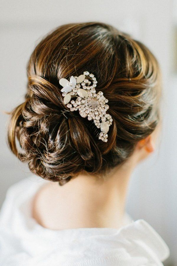 Wedding Hairstyles Low Wedding Updo With Hairpiece Listfender