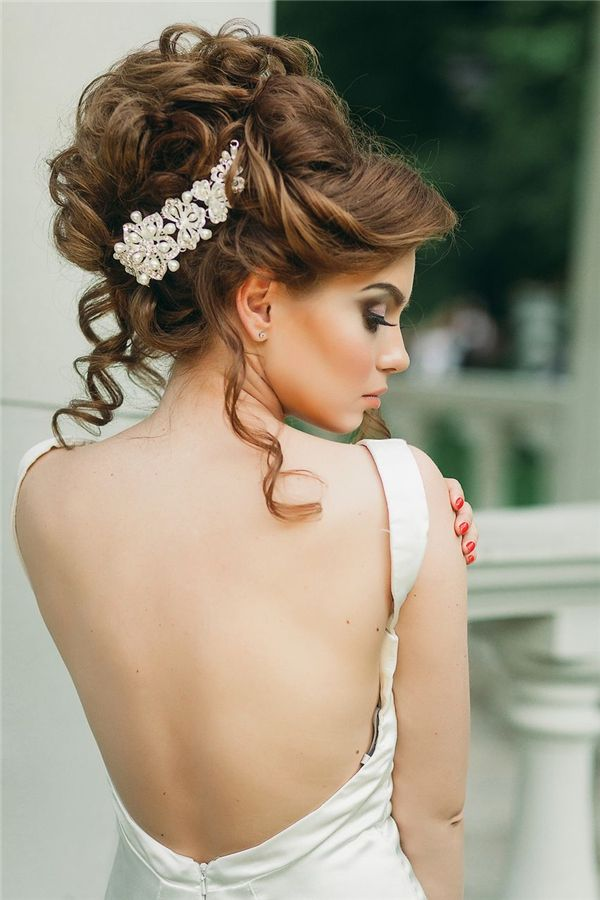 Wedding Hairstyles Updo Bridal Hairstyle And Open Back Wedding