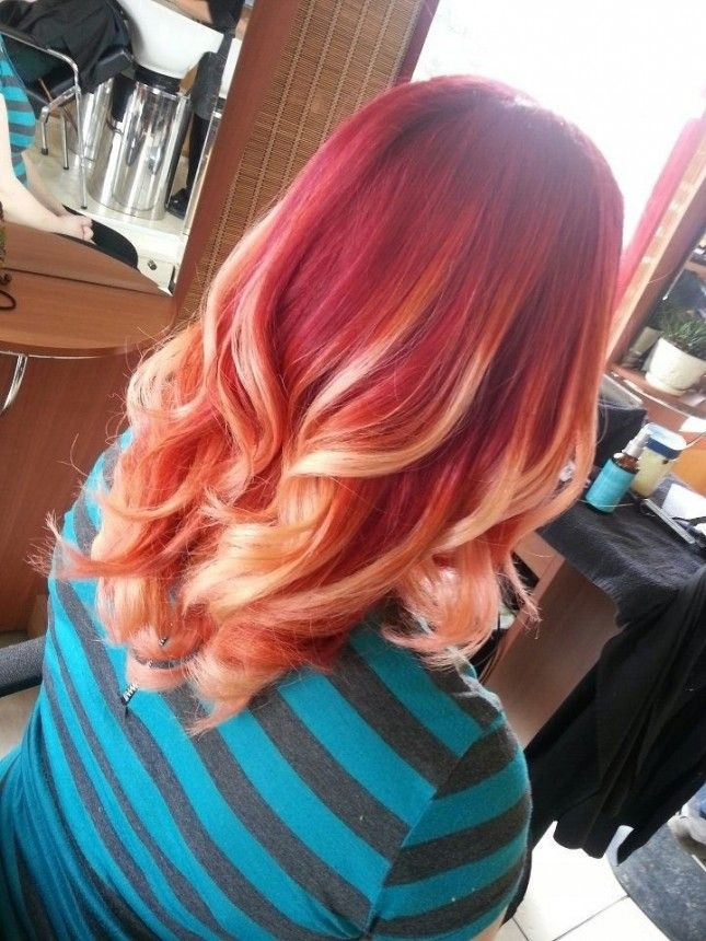 Hair Styles Ideas 17 Fire Red And Blonde We Just Cant Get Over