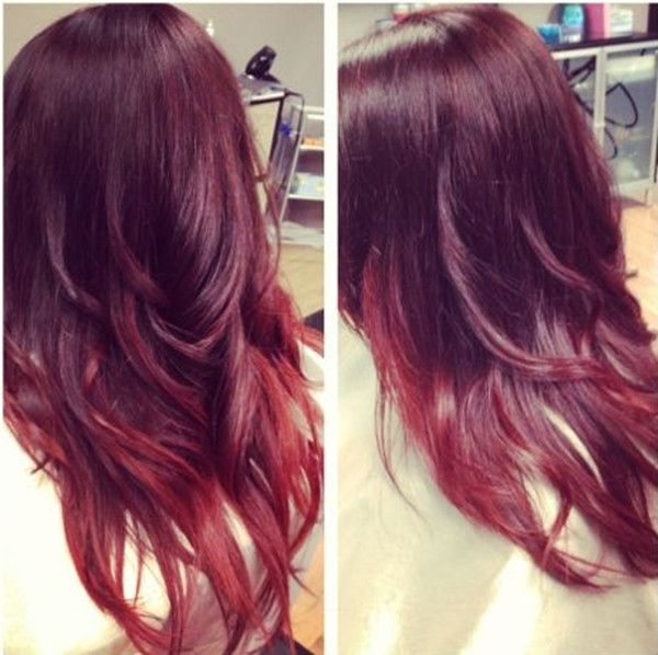 Hair Styles Ideas Bright Red Ombre Hair Color Idea For Black Hair Trend Of 2015 Listfender Leading Inspiration Magazine Shopping Trends Lifestyle More
