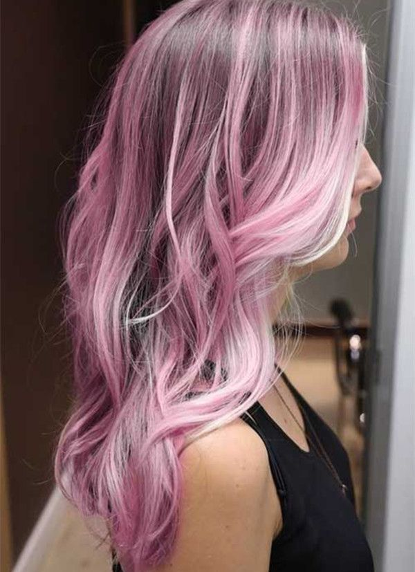 Hair Styles Ideas Cotton Pink Ombre Hair Color For Black Hair
