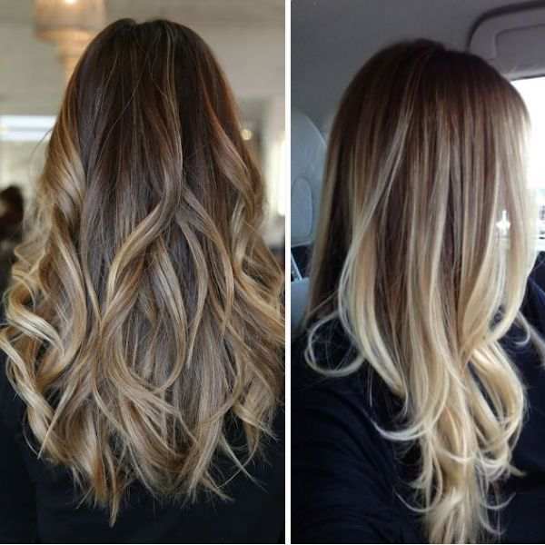 Hair Styles Ideas Dark Brown Ombre Hairstyle To Blonde With Bright