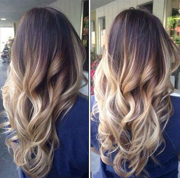 Hair Styles Ideas Dark Brown To Blonde Ombre Balayage Hairstyle