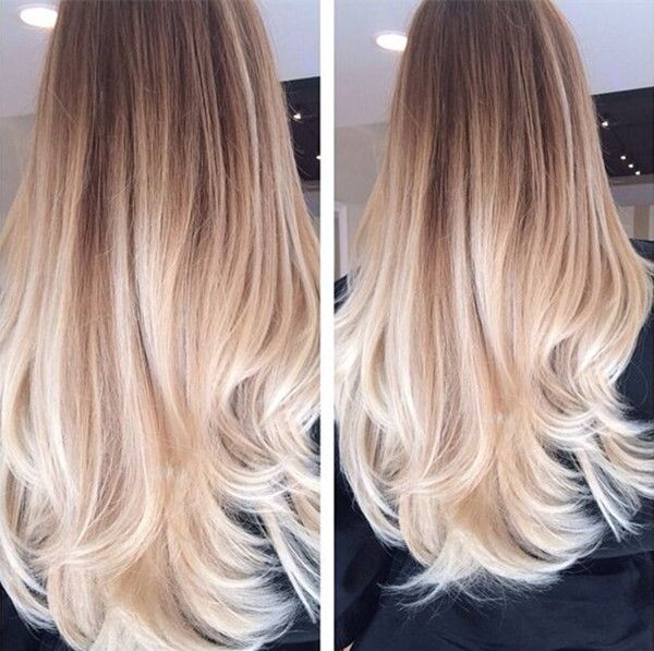 Hair Styles Ideas Golden Brown Ombre Hair To Blonde Nice Long