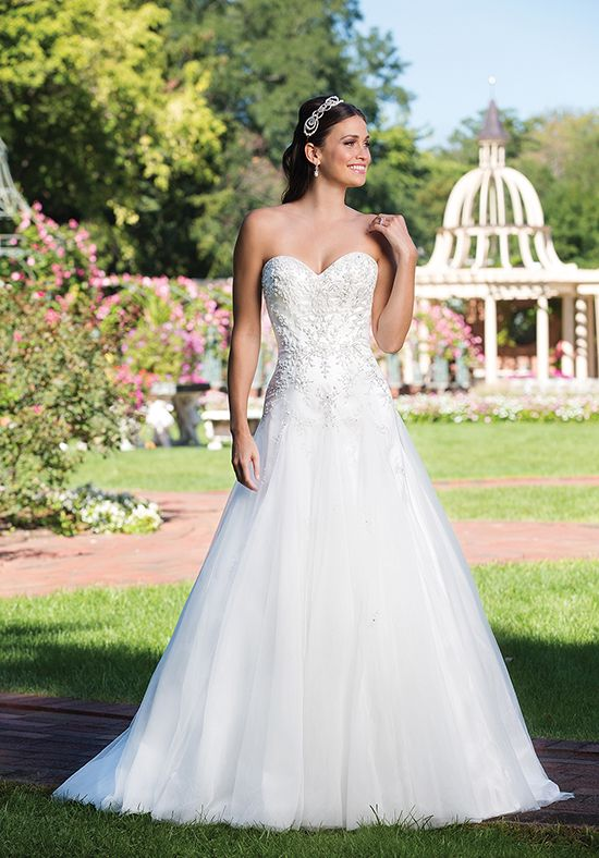 Wedding Dresses A Line Gown With Sweetheart Neckline And Beaded