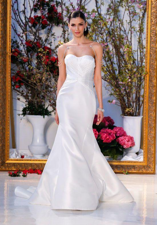 Wedding Dresses Strapless Silk Mermaid Wedding Dress Anne
