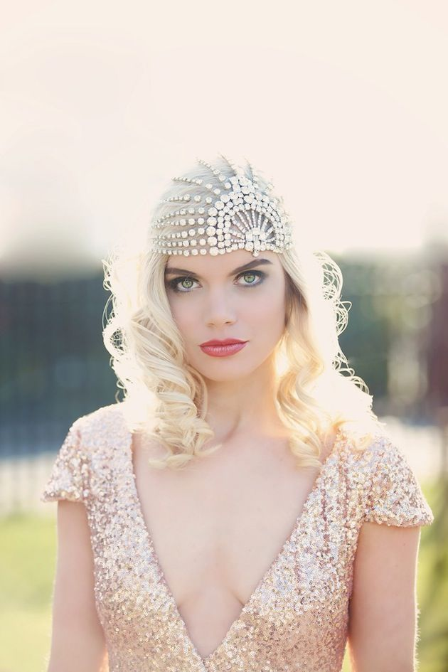 Wedding Hairstyles Art Deco Old Hollywood Glamour Bridal