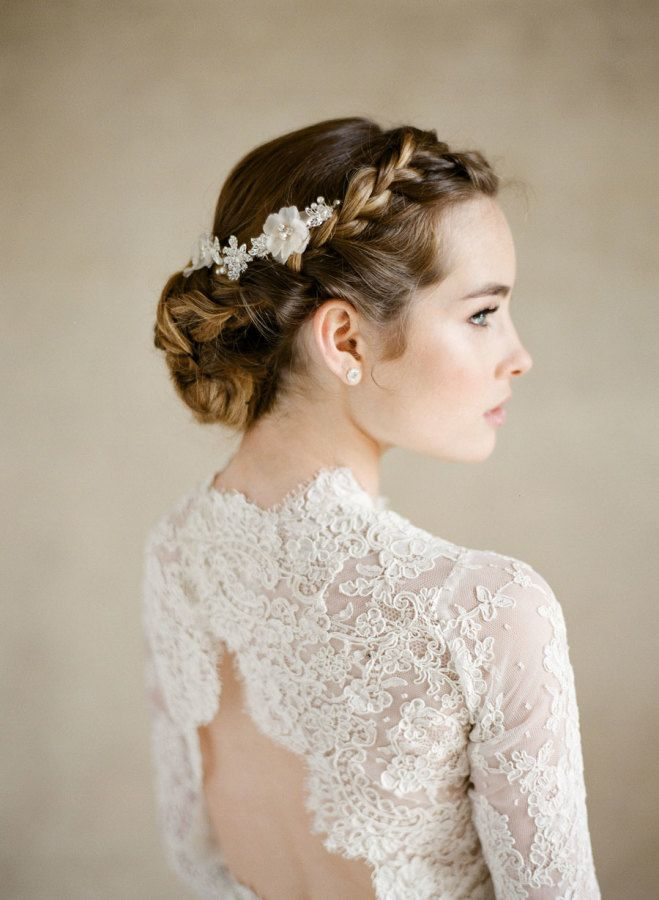 Wedding Hairstyles Lace Open Back Long Sleeve Wedding Dress Www