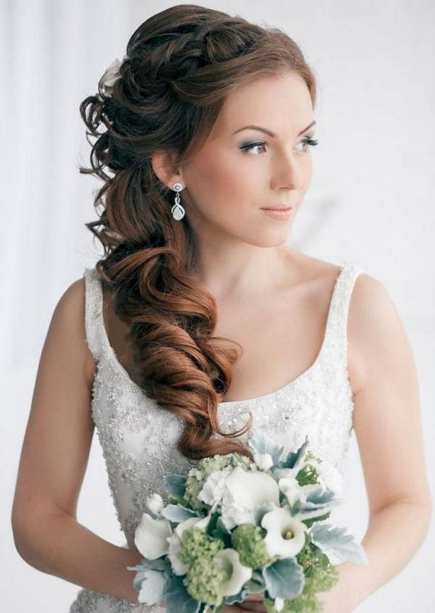 Wedding Hairstyles Wedding Hairstyles For Long Hair To The Side