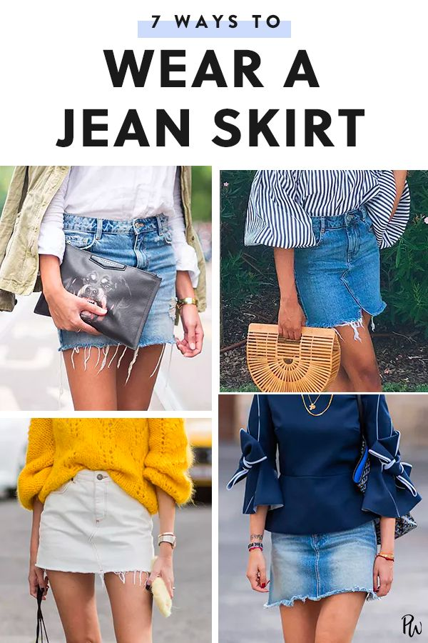 5cb49ad96e7 Life Hacks : 6 Ways to Wear a Jean Skirt #purewow #outfit ideas ...